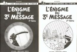 TINTIN : 2 Albums ENIGMES DU 3e MESSAGE T1+T2 - Erstausgaben
