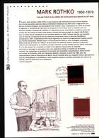2016, DOCUMENT OFFICIEL DE LA POSTE: Mark Rothko, 1903 1970, Peintre Abstrait - Documents De La Poste