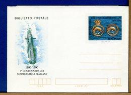 ITALIA - Biglietto Postale -   SOMMERGIBILI ITALIANI   1990 - 6. 1946-.. Repubblica