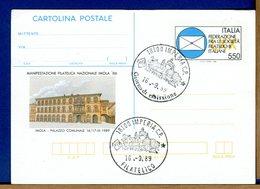 ITALIA - Biglietto Postale -   1989  MANIFESTAZIONE FILATELICA IMOLA '89 - 6. 1946-.. Repubblica