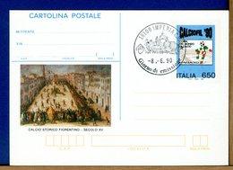 ITALIA - Cartolina  Postale -   1990    CALCIO STORICO FIORENTINO - 6. 1946-.. Repubblica