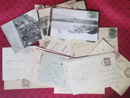 Lot De  40 Cartes Postales Anciennes Avec Timbre Taxe - Postkaarten