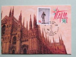 ITALIA, Tem. Filatelia, ITALIA '98 Mondiale Di Filatelia, Annullo Spec.25-10-98 Dioniso Su Libretto Erinnofilo (2 Scan) - Esposizioni Filateliche