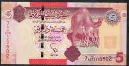 LIBYA LIBYE  P72 5 DINARS 2011 #7A    UNC. - Libya