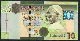 LIBYA LIBYE  P73 10 DINARS 2012 #7A    UNC. - Libye