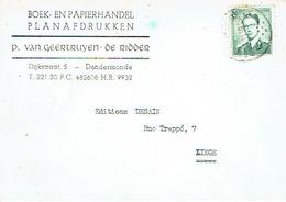 PK Publicitaire DENDERMONDE 1959 -  P.VAN GEERTRUYEN-DE RIDDER - Boek-en Papierhandel - Planafdrukken - Dendermonde