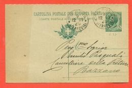 INTERI POSTALI-CARTOLINE POSTALI-C37/08 - Da Bologna Per Bazzano - 1900-44 Victor Emmanuel III
