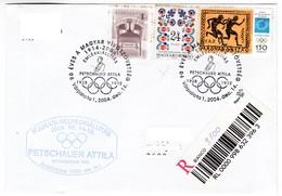 K57 Petschauer Attila Olympic 1928 Amsterdam 1932 Los Angeles Olympiques Fencing Escrime Fechten Lettre Recommandée - Summer 1928: Amsterdam