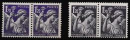 1944 Variété Sur Y&T 651 Paire Claire Avec Paire Normale N** - Curiosities: 1941-44 Mint/hinged