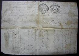 Généralité De Montauban 2 Cachets Différents Sur Un Parchemin De 1780, Renouvellement D'une Rente Par Pierre Labiche - Manoscritti