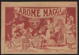 Publicité Papier 1905 Alimentation Potage MAGGI Caricature Dessin B . MOLOCH Repas Convives - Advertising