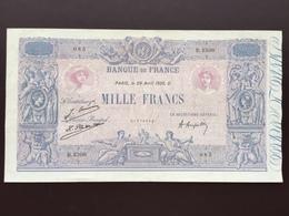 FRANCE P67K 1000 FRANCS 29.04.1926 VF+ - 1 000 F 1889-1926 ''Bleu Et Rose''