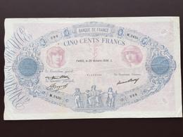 FRANCE P66L 500 FRANCS 29.10.1936 VF - 1871-1952 Antichi Franchi Circolanti Nel XX Secolo