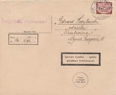 General Gouvernement Lettre De Service Myslenic 1942 - 1919-1939 Republic