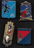 Lot De 4 Insignes Militaires - Esercito