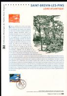 2016, DOCUMENT OFFICIEL DE LA POSTE: Saint Brevin Les Pins, Loire Atlantique - Documents Of Postal Services
