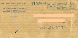 EMA HU 123162 Bouches Du Rhône + Flamme Port Saint Louis Du Rhône Sur Enveloppe Mairie - Postmark Collection (Covers)