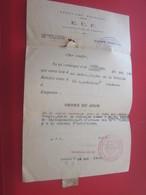 SCOUTISME FRANÇAIS ÉCLAIREURS E.U.F. GROUPE LOCAL TOULOUSE SCOUT  EQUIPE CHARCOT-ORDRE DU JOUR Convocation 1943-WW2 - Historical Documents