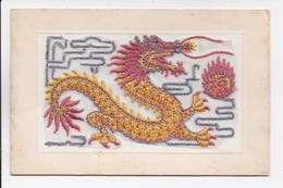 CPA BRODEE Dragon Chinois - Chine