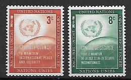 NATIONS - UNIES   -  1957 .  Y&T N° 52 / 53 **.   Conseil De Sécurité. - New York -  VN Hauptquartier