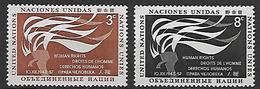 NATIONS - UNIES   -  1957 .  Y&T N° 54 / 55 **.   Droits De L' Homme - New York -  VN Hauptquartier