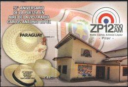 Paraguay 2018 ** 55 Aniversario Radio C. A. Lopez · Pilar ·. ZP12 700AM. Instalaciones. Sombreros. - Paraguay