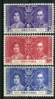 GRENADE : COURONNEMENT DE GEORGE VI , TIMBRES  NEUFS  SANS  TRACE  DE  CHARNIERE . - Royalties, Royals