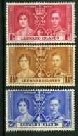 LEEWARD ISLANDS : COURONNEMENT DE GEORGE VI , TIMBRES  NEUFS  SANS  TRACE  DE  CHARNIERE . - Familias Reales