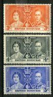 HONDURAS : COURONNEMENT DE GEORGE VI , TIMBRES  NEUFS  SANS  TRACE  DE  CHARNIERE . - Royalties, Royals