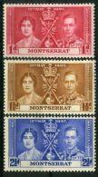 MONTSERRAT : COURONNEMENT DE GEORGE VI , TIMBRES  NEUFS  SANS  TRACE  DE  CHARNIERE . - Familias Reales