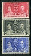 SOMALILAND : COURONNEMENT DE GEORGE VI , TIMBRES  NEUFS  SANS  TRACE  DE  CHARNIERE . - Royalties, Royals