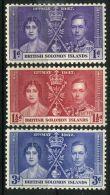 SALOMON : COURONNEMENT DE GEORGE VI , TIMBRES  NEUFS  SANS  TRACE  DE  CHARNIERE . - Royalties, Royals