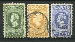 8771  PAYS-BAS  N°82,83,86 °  Centenaire Du Rétablissement De L'indépendance  1913   B/TB - 1891-1948 (Wilhelmine)