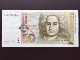 GERMANY P45 50 DM 02.01.1996 XF - 50 Deutsche Mark