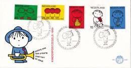 Nederland - FDC - Kinderzegels, Dick Bruna - Met Fluit/viool/trommel/zingende Kinderen/dansende Kinderen - NVPH E100 - Fairy Tales, Popular Stories & Legends