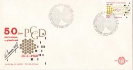 Nederland - FDC - 50 Jaar Postcheque- En Girodienst - Ponskaart - NVPH E88 - Post