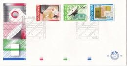 Nederland - FDC - 100 Jaar PTT-diensten - Pakketpost/openbare Telefonie/Rijkspostspaarbank - NVPH E192 - Post