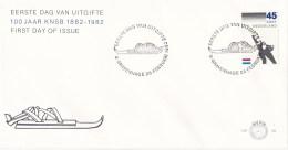 Nederland - FDC - 100 Jaar Koninklijke Nederlandse Schaatsenrijders Bond (KNSB) - Wedstrijdschaatser - NVPH E199 - Winter (Varia)