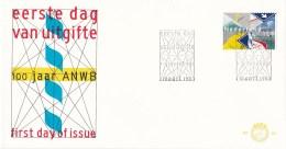 Nederland - FDC - 100 Jaar ANWB - Algemene Nederlandse Wielrijders Bond - NVPH E207 - Transportmiddelen