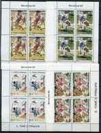 (CL 133)St Thomas Et Prince ** N° 976 à 979 En Quatre Feuilles De 4 Tbres - JO De Barcelone - Athlétisme, Basket, Tennis - São Tomé Und Príncipe