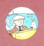 Tintin : Badge-épinglette Officiel Hergé-Moulinsart 2005 ( Diamètre 3 Cm ) - Stripverhalen