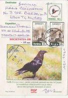 BIRDS, COMMON RAVEN, PC STATIONERY, ENTIER POSTAL, 2001, ROMANIA - Birds
