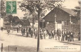 Dépt 10 - ROMILLY-SUR-SEINE - Sortie Des Ouvriers Du Chemin De Fer De L'Est - Romilly-sur-Seine