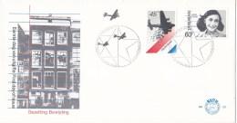Nederland - FDC - Bezetting En Bevrijding - Voedseldropping/Anne Frank/Het Achterhuis/Amsterdam - NVPH E182 - Beroemde Vrouwen