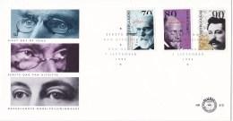 Nederland - FDC - Nobelprijswinnaars - J.D. Van Der Waals-natuurkunde/W. Einthoven/Chr. Eijkman-geneskunde - NVPH E312 - Nobelprijs