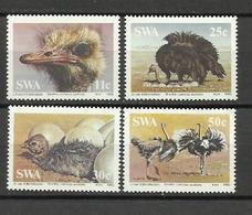 SWA  1985  Birds, Ostriches  4v. Perf. - Autruches