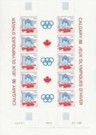 ST PIERRE ET MIQUELON -JO CALGARY -N-FEUILLE DE 5 PAIRES  NEUVES - ANNEE 1968 - COTE : 36,50 € - St.Pierre & Miquelon