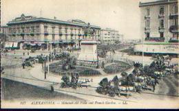 EGYPTE – ALEXENDRIA « Mehemet-Ali Place And French Garden » - Ed. LL, Paris - Alexandrie
