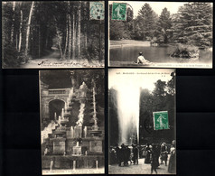 92  SAINT CLOUD  Le Parc, Lac Du Trocadéro, Grand Jet D'eau, Les Grandes Eaux, Bois St Cucufa (4 Cartes) - Saint Cloud