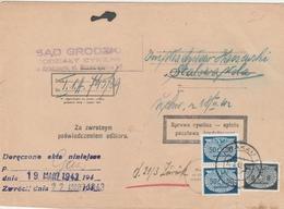 General Gouvernement Lettre De Service Krakau 1942 - 1939-44: World War Two